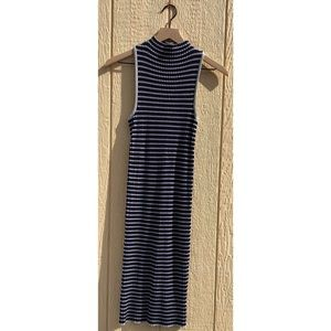 JustFab Striped Fitted Dress